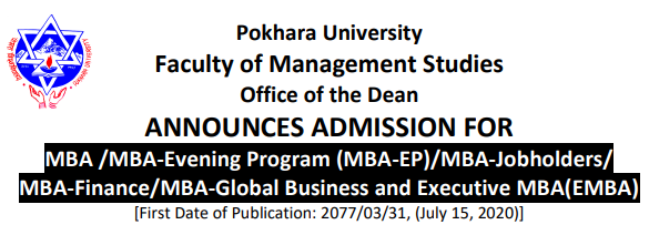 Pokhara University announces admission for Fall 2020 intake