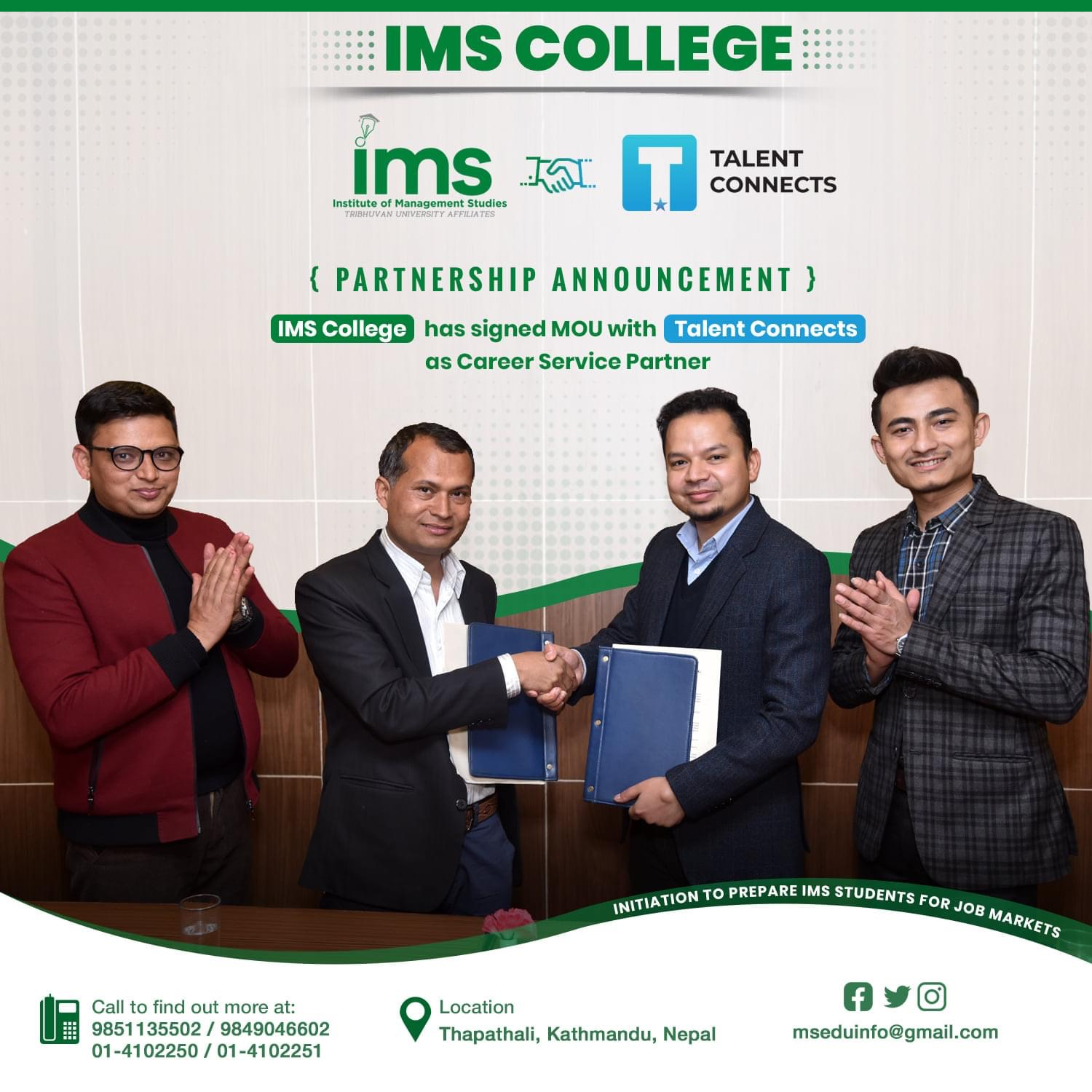 Institute of Management Studies (IMS) College has new management team
