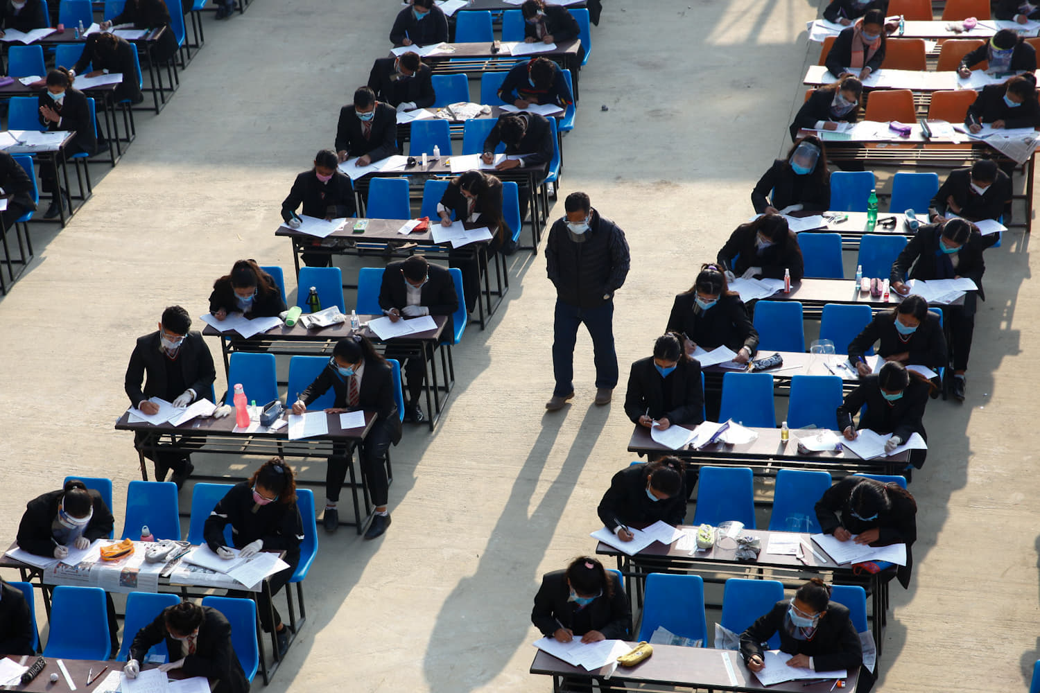 Class 12 exams in physical presence have started from Today